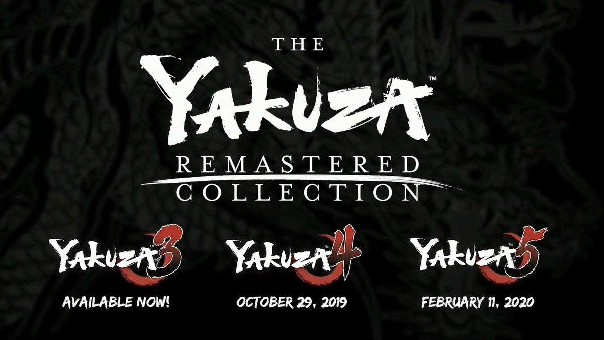Gamescom 2019: Anunciada The Yakuza Remastered Collection