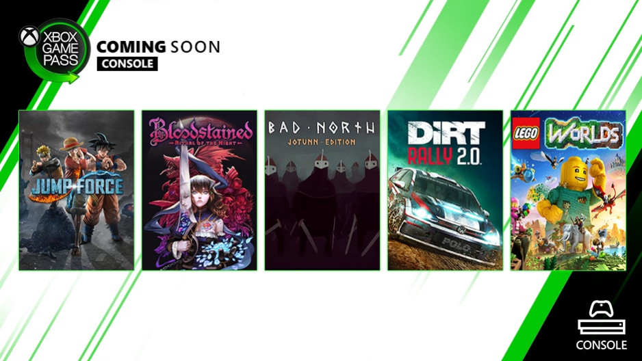 Xbox Game Pass: Jump Force, Bloodstained: Ritual of The Night y más llegarán en septiembre